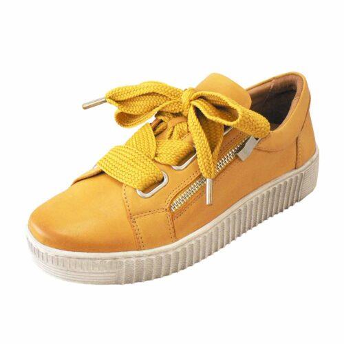 EOS Jovi Mustard Platform Sneaker
