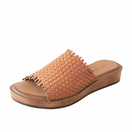 Effegie Weaver Brandy Leather Slide
