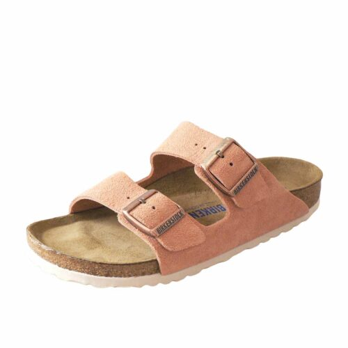 Birkenstock Arizona Suede Soft Footbed Earth Red