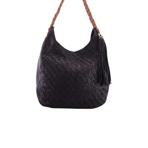 Cadelle Leather Mini Imani Black Cognac
