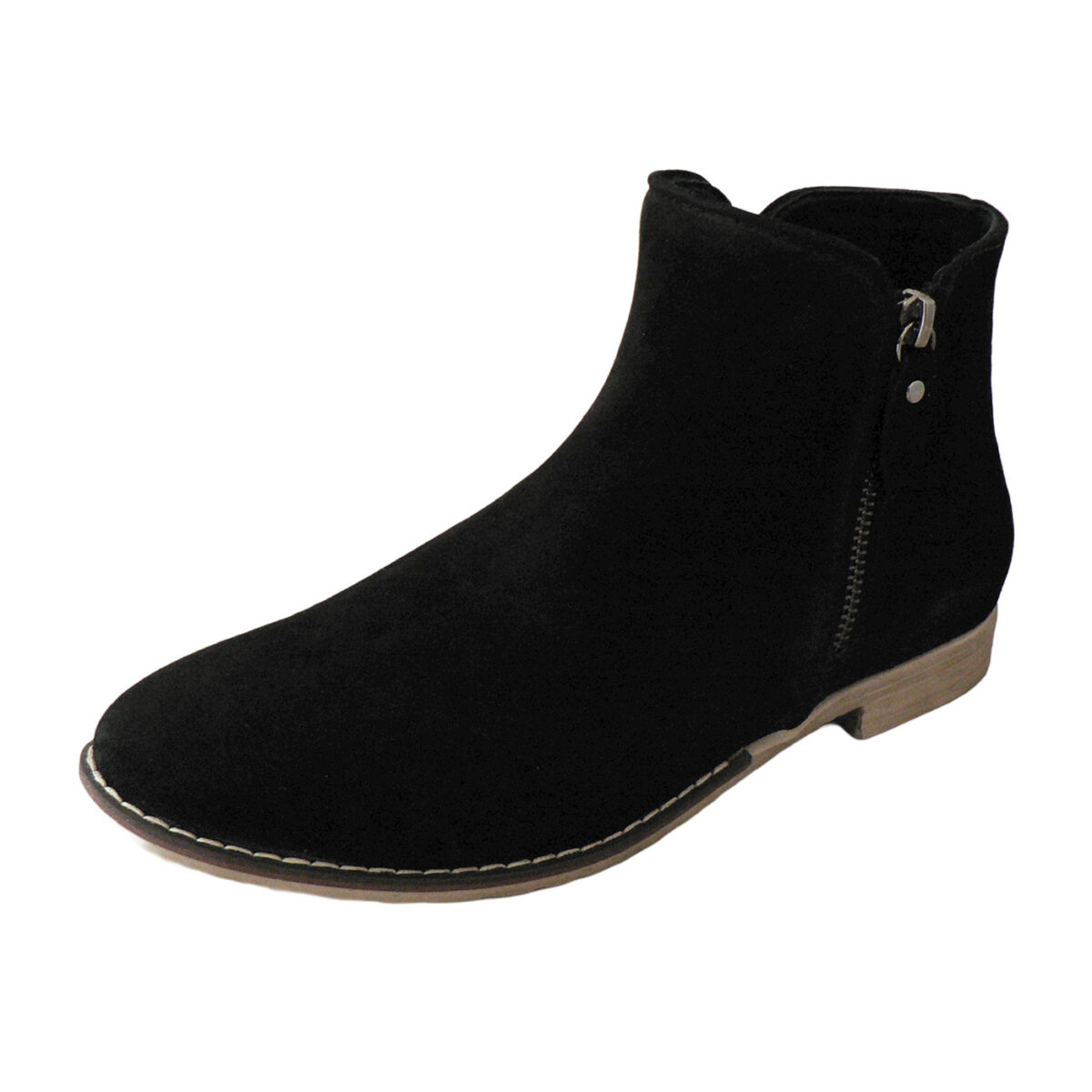 Red Ginger Talon Black Suede Boot