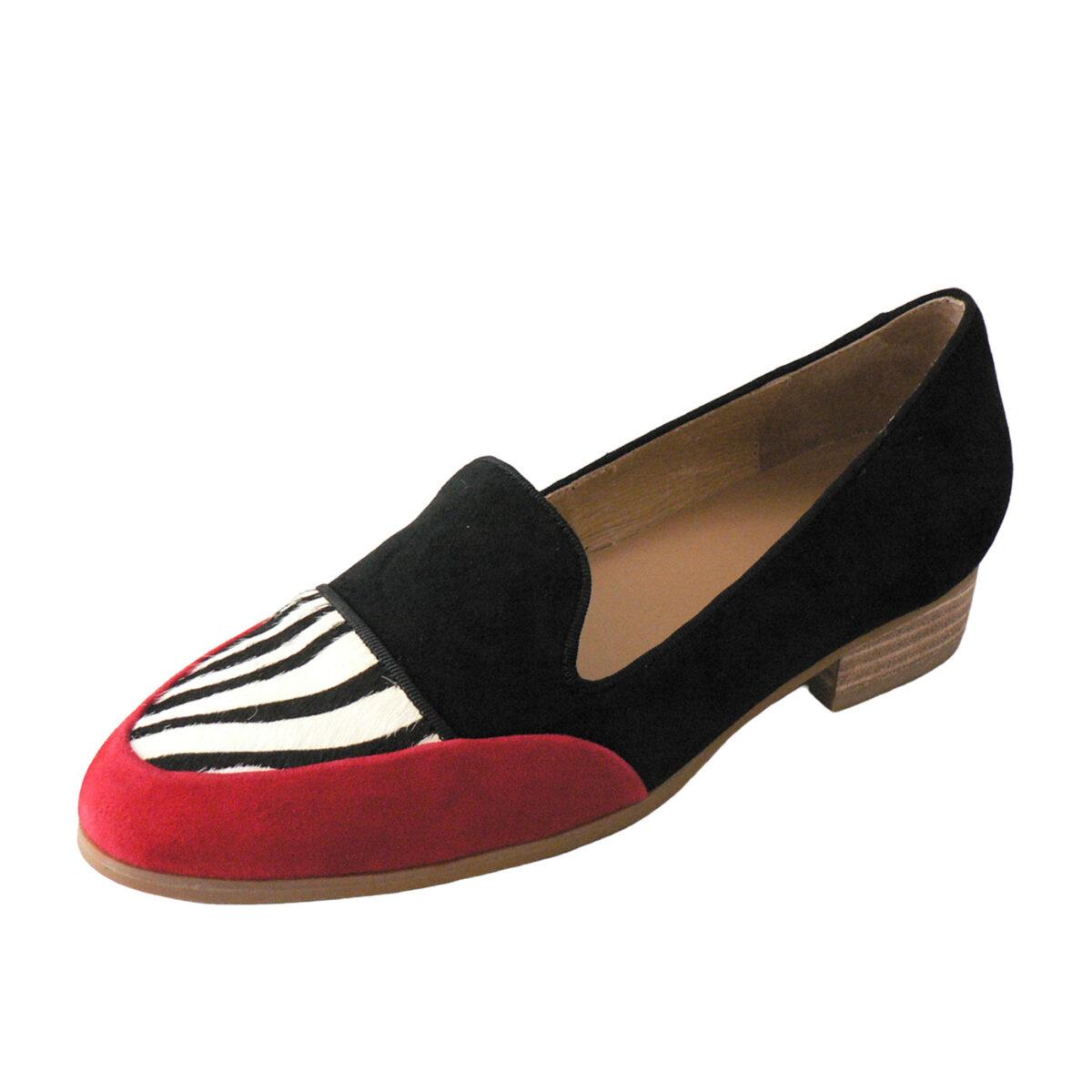 Red Ginger Yeah Red Zebra Black Loafer