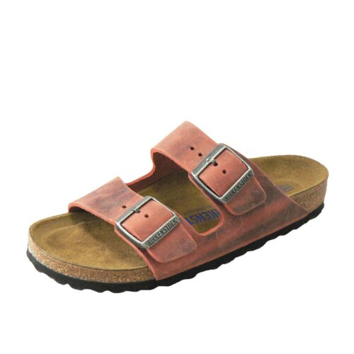 Birkenstock Arizona Earth Red Oiled Leather Narrow Fit